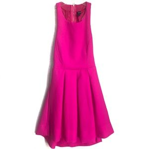 Hot Pink Fit & Flare Cocktail Dress